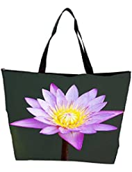 Snoogg Beautiful Purple Waterlily In A Pond Waterproof Bag Made Of High Strength Nylon