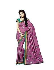 De Marca Purple Raw Silk Designer 2259 Saree