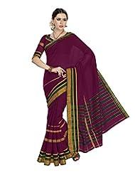 Aadarshini Women's Cotton Saree (4024, Maroon)