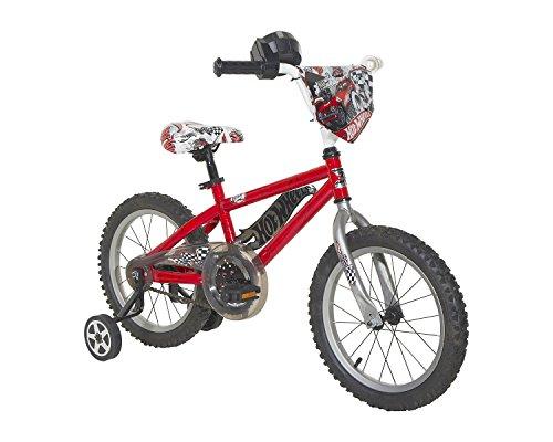 Hot Wheels Boys Bike, Red/Black/Silver, 16″