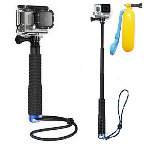 First2savvv GO-ZPSJ-03FLB azul telescópica extensible Monopod / Selfie Stick /...