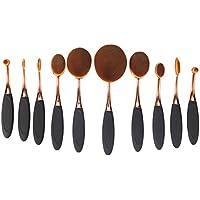 Yoseng Foundation Oval Makeup Concealer Powder Brush Set, Rose Golden