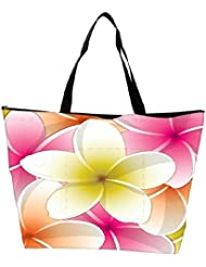 Snoogg All Purpose Bright Frangipani Card In Vector Format Waterproof Bag Made Of High Strength Nylon - B01I1KHR56