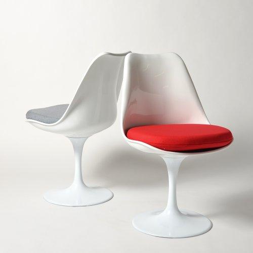 チューリップチェア(Tulip Chair) レッド ファブリッククッション エーロ・サーリネン