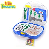 Deluxe Tool Series From Little Treasures 21 Piece Pretend And Play Tools Play Set In Carry Case With Friction...