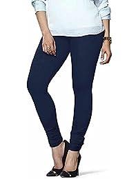 Devyansh Enterpriese Women's Cotton Leggings(DE003_Blue_Free Size)