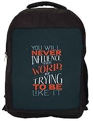 Snoogg Never Be Like It Backpack Rucksack School Travel Unisex Casual Canvas Bag Bookbag Satchel