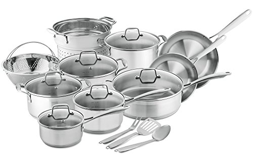 Chef's Star Professional Grade Stainless Steel 17 Piece Pots & Pans Set...