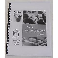 Oster Bread Machine Maker Manual & Recipes (5821)
