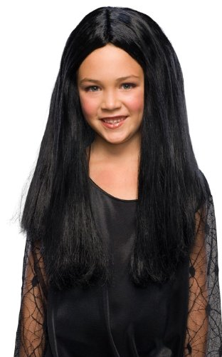 Great Group Halloween Costumes: The Addams Family - Addams Family Child's Morticia Wig