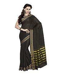 Aadarshini Women's Cotton Saree (4040, Green)