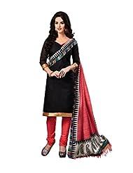 Riti Riwaz Black Printed Bangolary Silk Dress Material With Matching Dupatta 2RZ3002