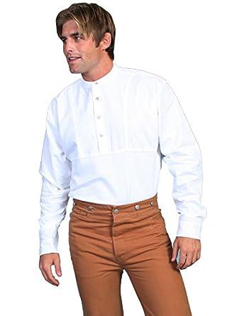 Victorian Men's Shirts- Wingtip, Gambler, Bib, Collarless Rangewear Traveler Shirt  AT vintagedancer.com