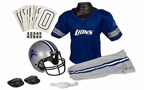 Franklin Sports NFL Team Licensed Youth Uniform Set - Detroit Lions