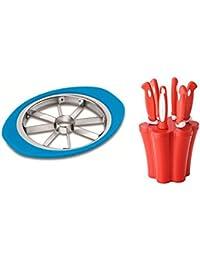 Trendigo Kitchen Tools Combo Of Stainless Steel Premium Apple Cutter All Are Rendom Colour   Knife & Peeler Set...