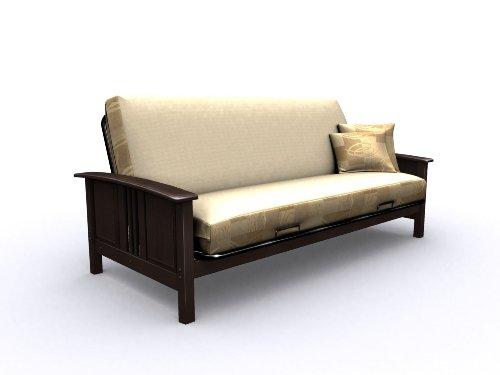 American Furniture Alliance Elite Hermosa Full Metal/Wood Futon Frame, Espresso