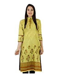 D2Nine Women's Cotton Collar Neck Kurti - B0110HSYHC