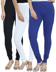 Style Acquainted People Women's Cotton Leggings (Pack Of 3) - B015J87QWM