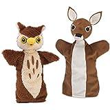 Animal Hand Puppets, Set Of 2