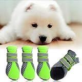 Banggood Puppy Shoes Dog Pet Waterproof Anti-Slip Outdoor Protective Boots Green XL