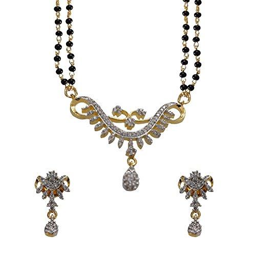 Sheetal Jewellery Silver & Golden Brass & Alloy Mangalsutra For Women - B00TIGZK1Q