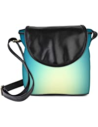 Snoogg Lite Blue Background Womens Sling Bag Small Size Tote Bag