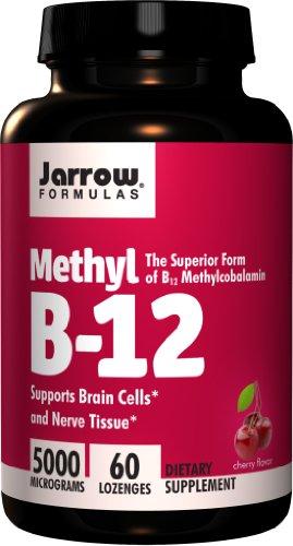 Jarrow Formulas Methylcobalamin (Methyl B12), Supports Brain Cells, 5000 mcg, 60 Lozenges
