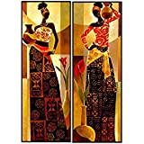 "FineArts Set Of 2 Wall Art Paintings For Home Décor-6""X17""Inch Each"