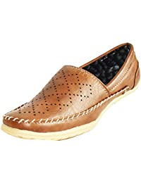 Chocolate Color, Air Holes Designed, Synthetic Leather Casual Loafer Shoes