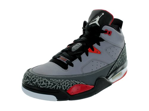 cheap for discount f8613 28e29 Nike Mens Jordan Son Of Low Cement Grey White Black Fr Red Basketball