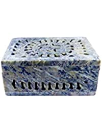QraftINK Soap Stone Hand Carved Jewellery Box