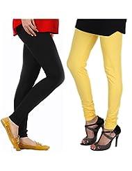 Style Acquainted People Women's Cotton Leggings (Pack Of 2) - B015J88WAM