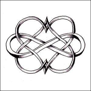 Amazon.com : Double Heart Infinity Temporary Tattoo : Beauty