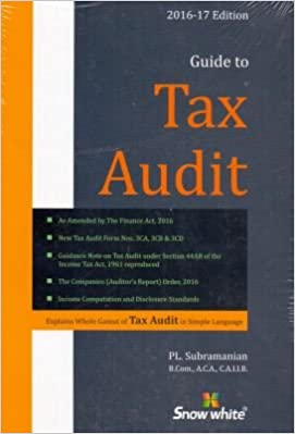 Guide to Tax Audit Book– 2016 Edition