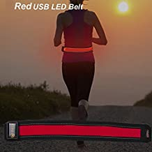 Bseen LED Belts- USB Rechargeable LED Running Waist Belts, Safety Gear For Running, Jogging, Hiking, Camping,...