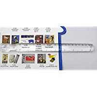 Utrax Reading Ruler Bar Magnifier With Mm And Inch Scale On The Base