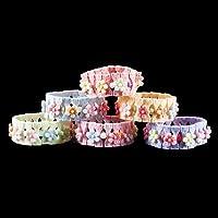 Floral Design In A Variety Of Colors Bracelets