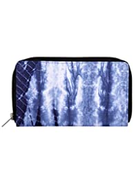 Lovable Blue Tie Dye Cotton Abstract Clutch Bag For Ladies By Rajrang
