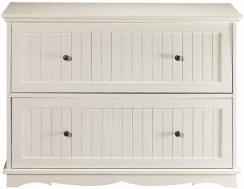 white lateral file cabinet French Country 39.5