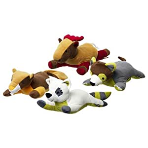 Pet Supplies : Animal Planet Plush Dog Toys - 4 Pack