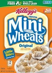 Kellogg's Frosted Mini Wheats Bite Size, 24 Ounce Box