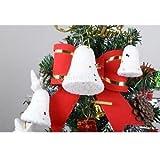 Banggood Christmas Ornaments Bell White For Xmas Decors 3. 8cm 6cm