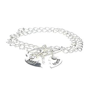 Claire's Damen-Armband Freundschaftsarmband Silber