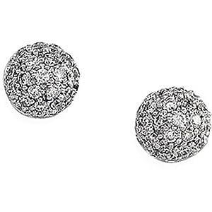 IceCarats Designer Jewelry 14K White Gold 14K White 1/2 Ctw Diamond Earrings. 1/2 Ct Tw Pair