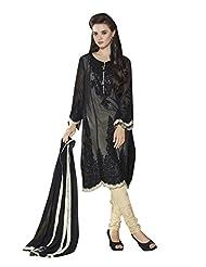 Texclusive Women's Georgette Straight Cut Pakistani Work Semi Stitched Dress Material - B016GM6FWW