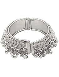 Silver Plated Ghunghru Party Wear Kada Bangle By My Design