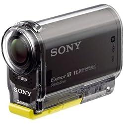 SONY HDR-AS30V - Cámara deportiva de alta definición + Carcasa estanca SPK+AS2 + 3 soportes de fijación