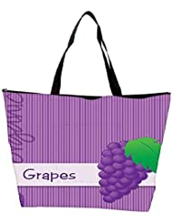 Snoogg Bright Organic Purple Grape Card In Vector Format Waterproof Bag Made Of High Strength Nylon