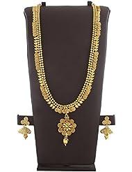 Anuradha Art Golden Finish Ethnic Design Long Necklace Set For Women