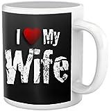 Tied Ribbons I Love My Wife Printed Coffee Mug(325 Ml)